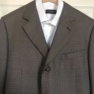 CANALI Silk Blend Blazer Coat Jacket 54 IT 44 R US
